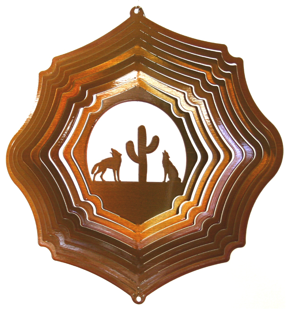 12 inch coyote copper wind spinner