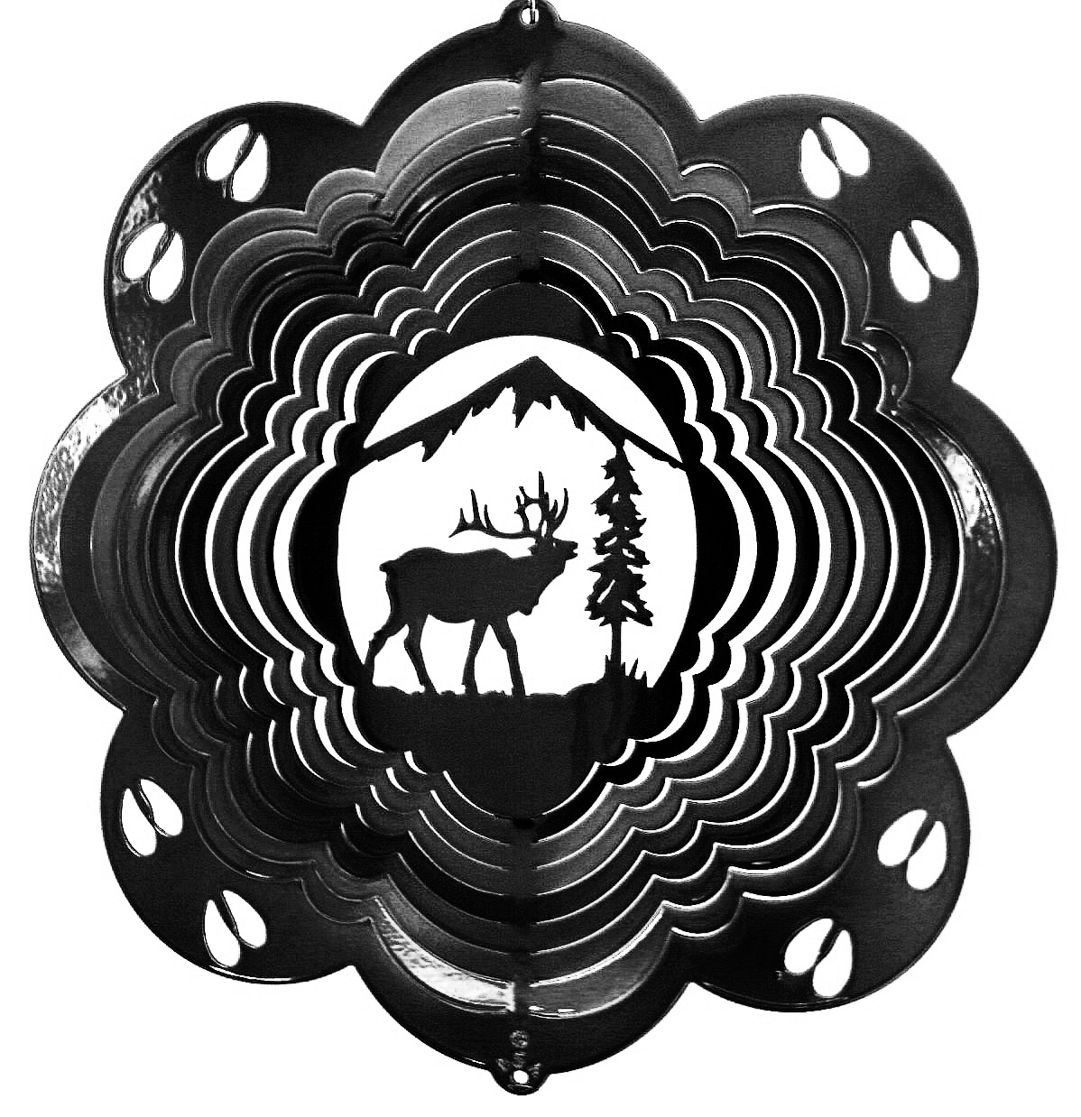 12 inch elk black wind spinner