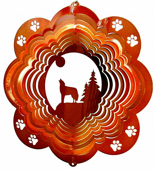 Beautiful Wolf Wind Spinners for the Garden Landscape