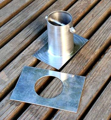 Decorative Flared Cup Aluminum Rain Chains For Gutter