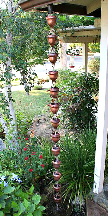 Gorgeous Outdoor Copper Art with Our Decorative Rain Chain Cups