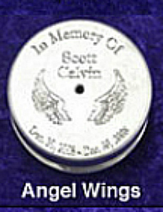 Angel Wing Wind Chimes Urns