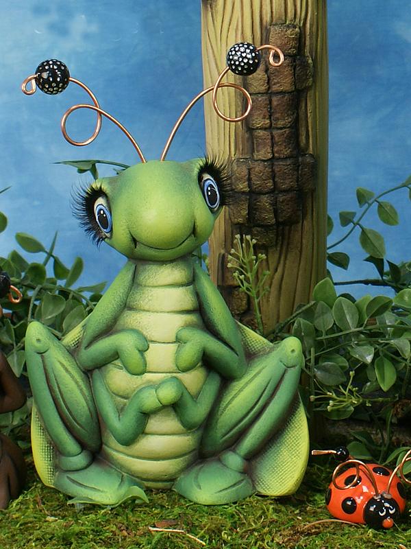 Anna Hoppin Ceramic Grasshopper Statue
