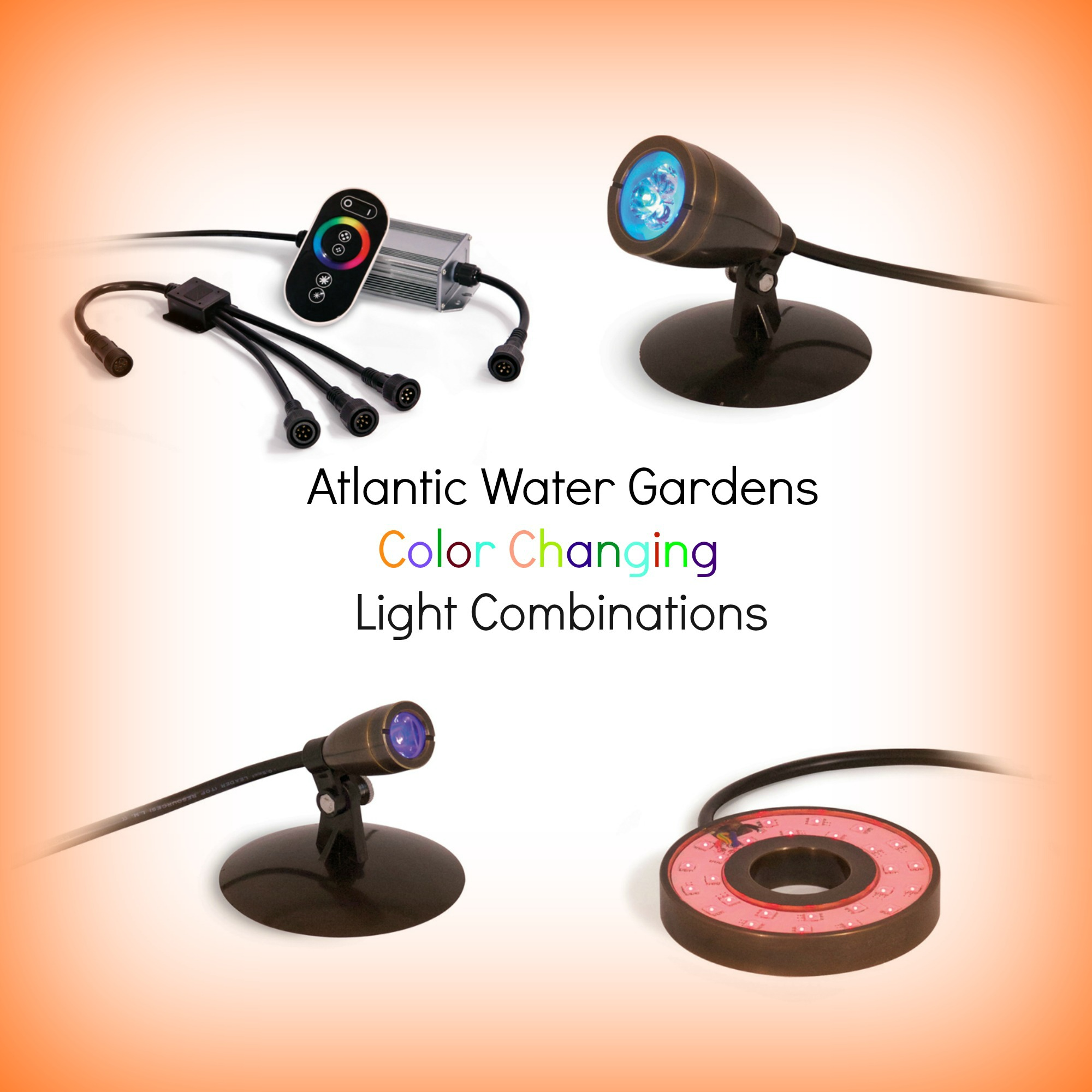 Atlantic Water gardens Color Changing LED Lighting