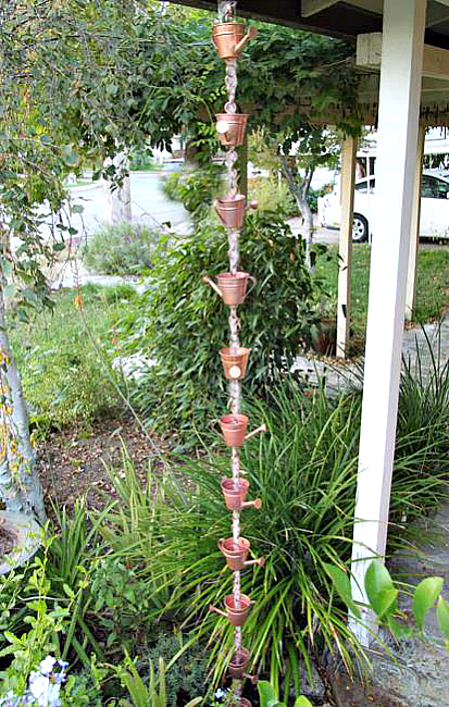 Decorative Rain Chains for a Beautiful garden Landscape
