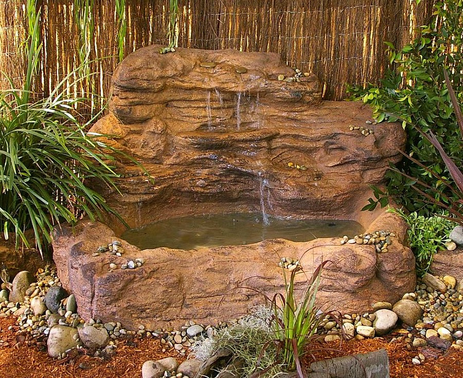 Pond and waterfall formations, designs and kits