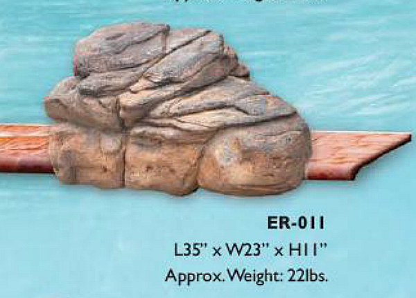 Beautiful Edge Rocks for Swimming Pool Waterfall Kits