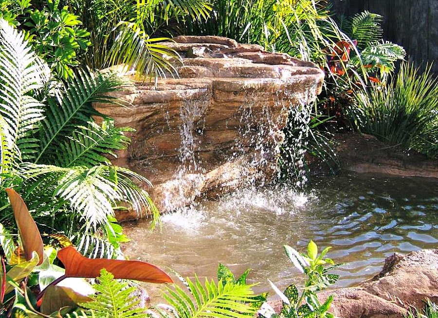 Backyard landscaping pond artificial waterfall ponds Waterfall for ponds