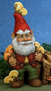 Paint Your Own Ceramic Garden Gnomes for Crafts & Gifts