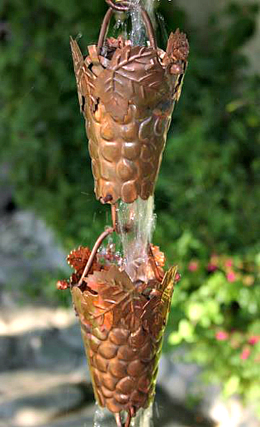 Beautiful Copper Rain Chains as Gutter Downspout Alternatives