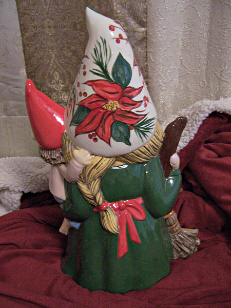 Green Poinsettia Mama Gertie Gnome