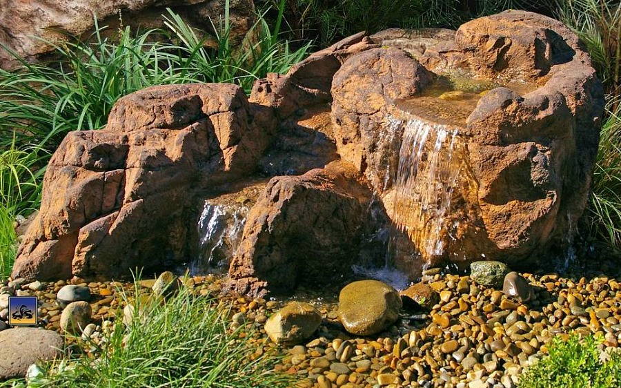 Design your own beautiful pondless waterfalls with Garden Gnomes Etc