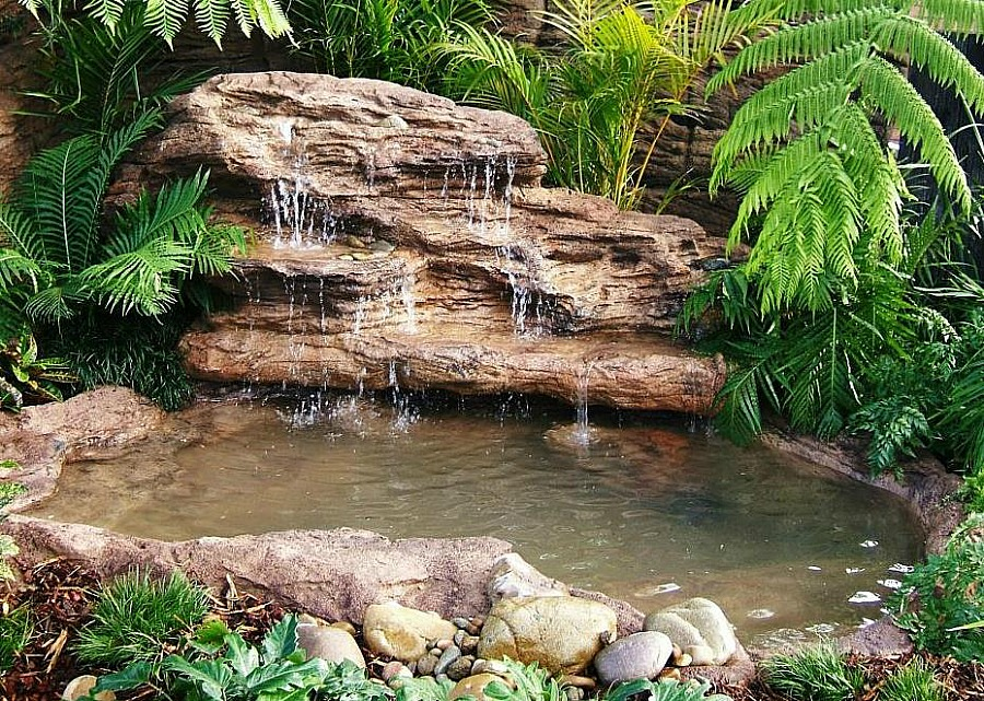 Large Majestic Tropical Waterfalls