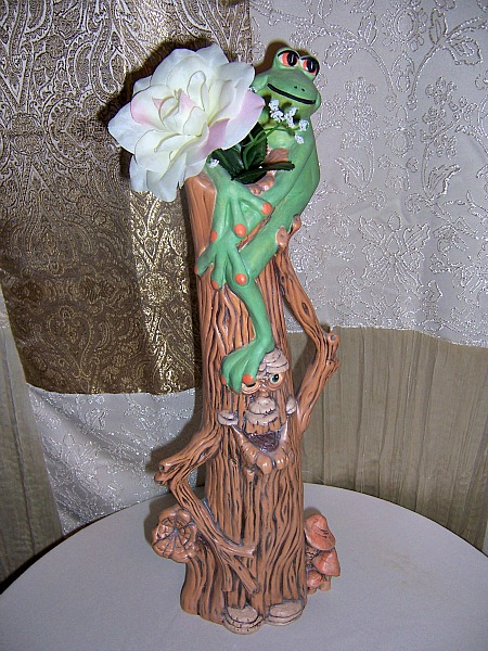 Ceramic Tree Ent with top hole for vase