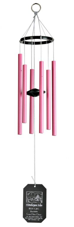 Little Grace Note Himalayan Echo Pink Wind Chimes