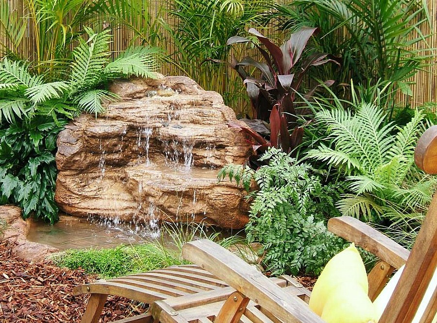 Beautiful Tropical Water Garden with our Artificial Pond and Waterfall Designs
