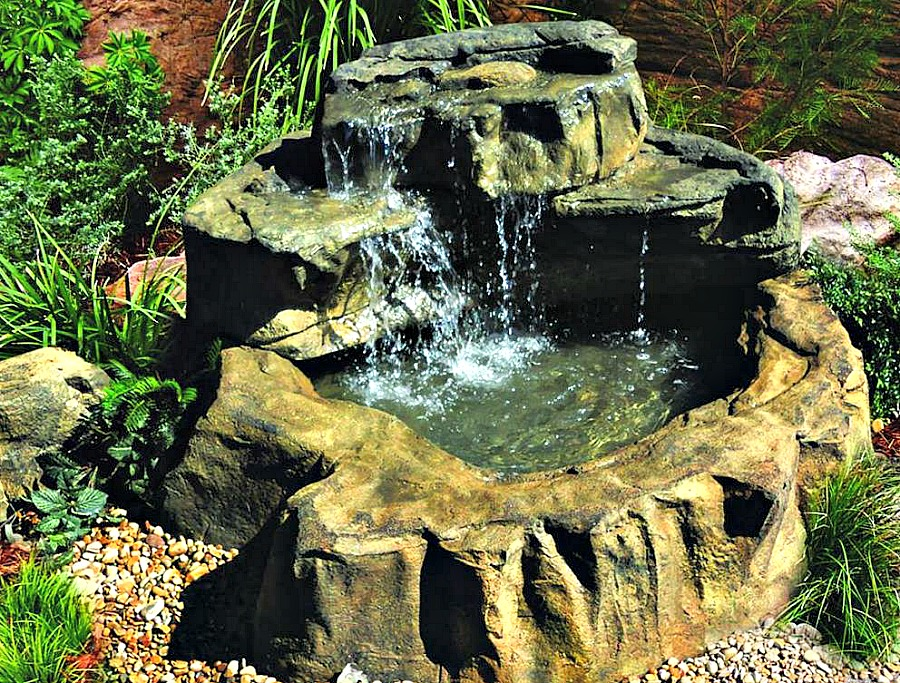 Gorgeous Patio Pond Waterfall Kits