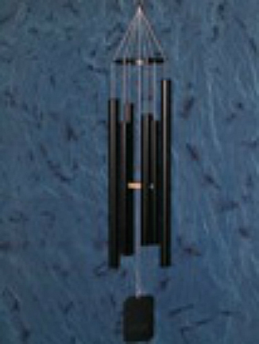 Black medI'm wind chime