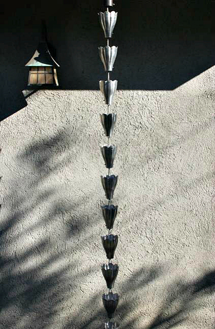 Gorgeous Aluminum Rain Chains By Garden Gnomes Etc