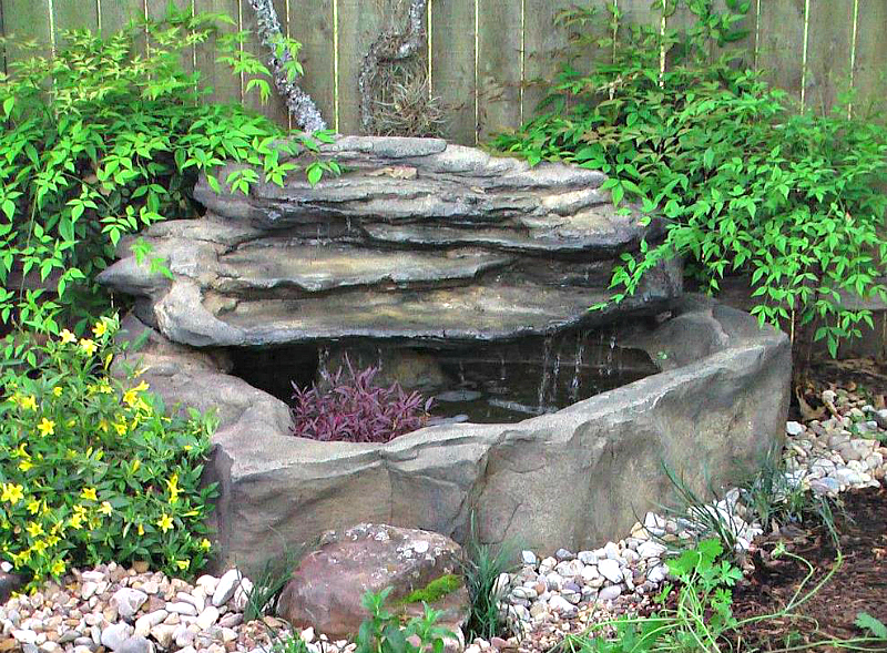 Small Patio Pond Waterfall Kits