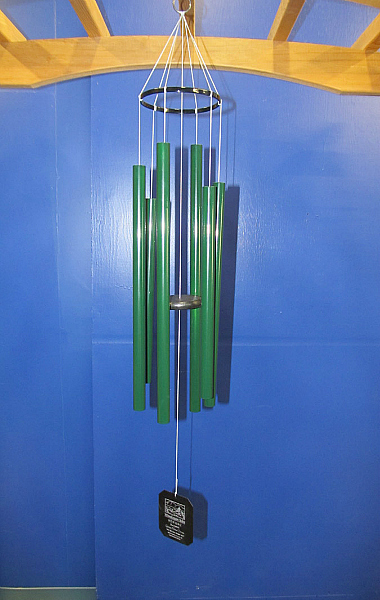 Small Custom Green Grace Notes Wind Chime