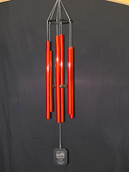 Small Red Grace Notes Wind Chimes