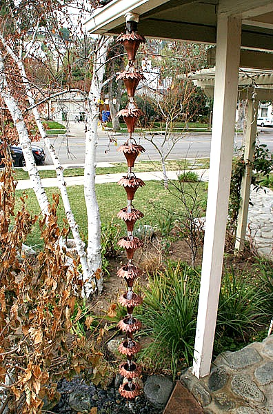 Add Beauty to Your Garden Landscape with Our Decorative Rain Chains by Garden Gnomes Etc