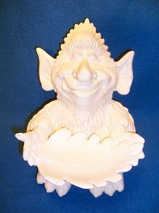 Cool unpainted Ceramic Garden Troll Crafts