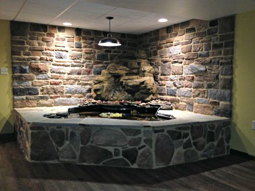 Gorgeous Vertical Waterfall MW-005 Basement Family Room Pond Waterfall