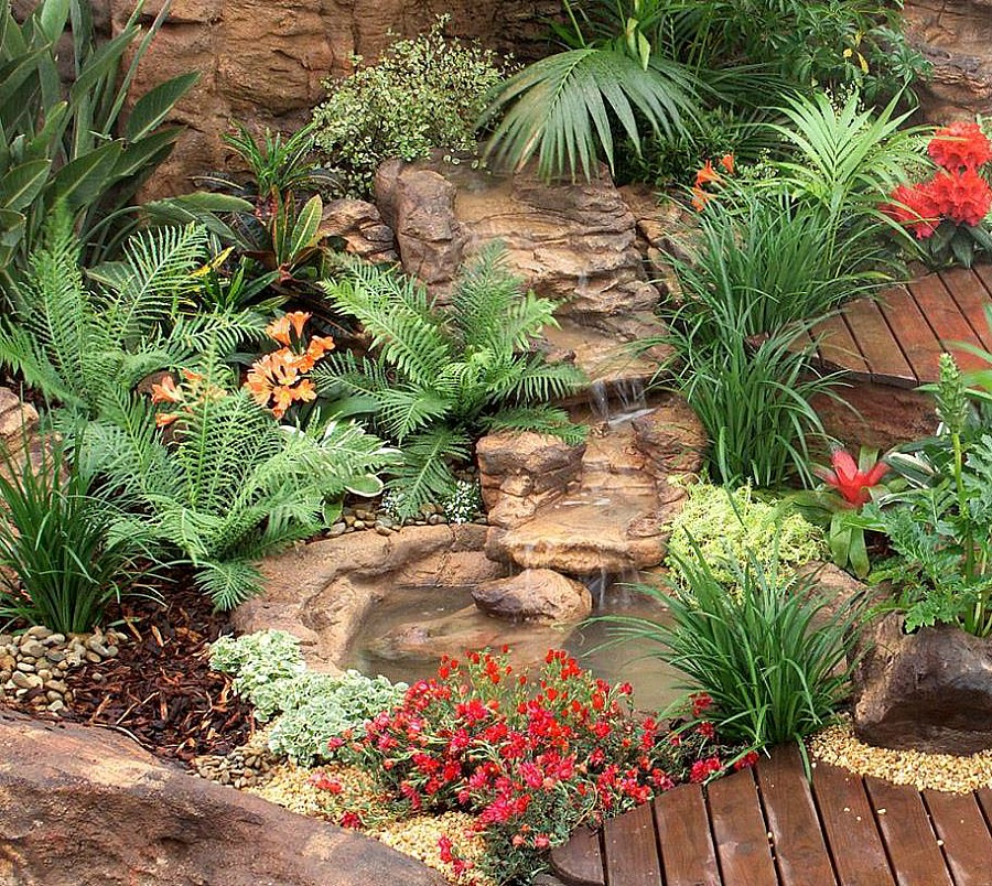 Create your own beautiful water garden with our spectacular waterfall and garden rock formations